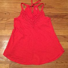 NY &Co coral colored tank Beautifully embroidered tank made of 60% cotton and 40% modal. Lightweight and ready for summer with a pair of cut offs. New York & Company Tops Tank Tops