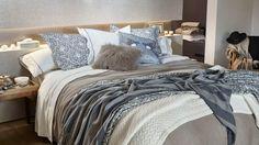 linge de lit gris et bleu zara home