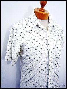 Vintage 1970s 70s Mod Star Pattern Shirt Medium   eBay