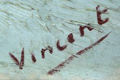 The signature of Vincent van Gogh on a painting in the Kroeller-Mueller Museum. Van Gogh Tattoo, Vincent Van Gogh, Baby Tattoos, Tatoos, Artist Art, Van Life, Monet, Tattoo Inspiration, Tatting