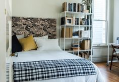 Remodelista_F&B_KB DO NOT like this look - but the instructions for the wallpapered headboard.... interesting possibilities for MBR