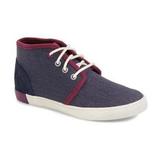 Timberland 'Newport Bay' Chukka Sneaker featuring polyvore, women's fashion, shoes, sneakers, iris canvas, chukka ankle boots, wedge trainers, timberland shoes, chukka boots and wedges shoes