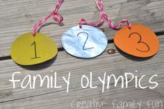 Creative Family Fun: Creative Family Fun Nights: Family Olympics