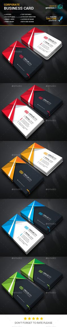 Criclegra Corporate Business Cards Template #design  Download: http://graphicriver.net/item/criclegra-corporate-business-cards_4/12325227?ref=ksioks