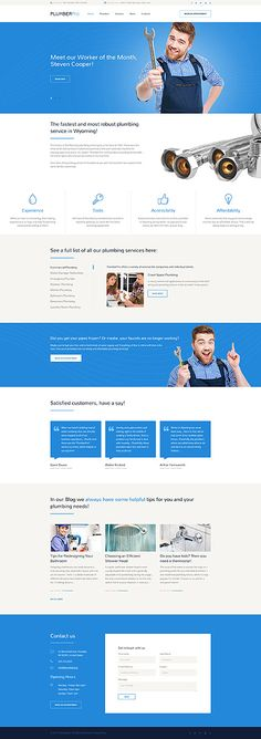 Professional Plumber #website #template. #themes #business #responsive #websitethemes