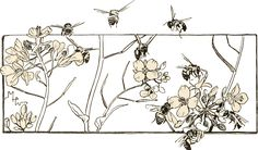 bees+and+flowers+vintage.png 1,500×878 pixels