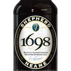 Sheperd Neame 1698 Ale, label by SAA Design