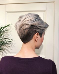 V Shaped Haircut for Short Hair V Shaped Haircut for Short Hair 163865 V Shape C… - Hair Cuts Short Pixie Haircuts, Short Hairstyles For Women, Short Hair Cuts, Bob Hairstyles, Pixie Cuts, Pixie Cut With Undercut, Undercut Pixie Haircut, Hairstyle Short, Hairstyle Ideas