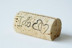 Wine cork placecard holders via Oh So Beautiful Paper
