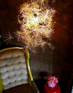 Straw chandelier and other DIY light projects