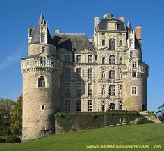 The Château de Brissac, Brissac-Quincé, Maine-et-Loire, France....     http://www.castlesandmanorhouses.com/photos.htm   ...     The château was originally built as a Château-fort (ie castle) by the Counts of Anjou in the 11th century.The present castle has seven storeys, making it the tallest château in the Loire Valley.
