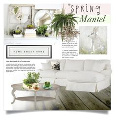 """""""Spring Mantel Decor"""" by clotheshawg ❤ liked on Polyvore featuring interior, interiors, interior design, home, home decor, interior decorating, Vintage Playing Cards, Shabby Chic, Sebastian Professional and Pier 1 Imports"""