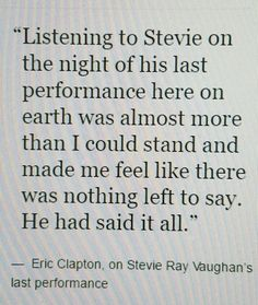 Eric Clapton about Stevie Ray Vaughan Music Mix, My Music, Rock Music, Steve Ray Vaughan, Nothing Left To Say, Brandy Love, The Yardbirds, Stevie Ray, Music Photo