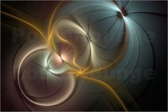 Fraktal 'Lebenskreise' Poster von gabiw Art