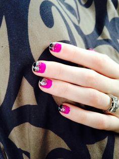 Layered Glitter Nail Art!