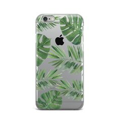 Tropic Leaves Rubber Silicone Cover Case For iPhone 4 4S 5 5S 5c SE 6 6S 7 Plus #Apple