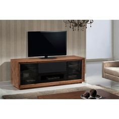 Have to have it. Furnitech Signature Home Collection 70 in. TV Stand - Walnut - $1905 @hayneedle.com