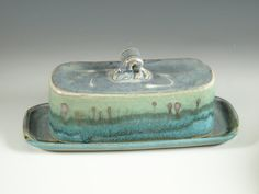 Butter dish by hodaka pottery