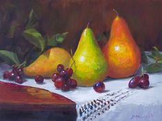 Donna Munsch Fine Art: Original Oil Painting Three Pears