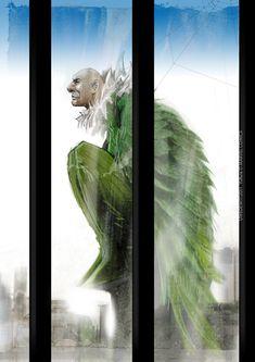 My interpretation of the Comic Book Villain © MARVEL Comics. Comic Book Villains, Marvel Villains, Comic Books Art, Comic Art, Vulture Spiderman, Spiderman Marvel, Avengers, Marvel Comics Art, Anime Comics