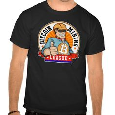 Bitcoin Mining League BML Logo Shirt. Bitcoin, you can be your own bank. High resolution Bitcoin logo design just for you. Spread the word of Bitcoin, Vires in Numeris, Strength in Number people's choice crypto currency technology.