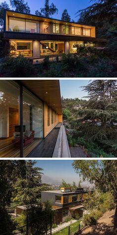 Nicolas Loi + Arquitectos Asociados designed a family home in the hills near Santiago, Chile.