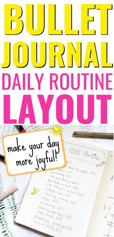 Create your daily routine and make your day more joyful with these bullet journal layouts #anjahome #bulletjournal Keeping A Bullet Journal, Daily Bullet Journal, Bullet Journal How To Start A, Bullet Journal Layout, Bullet Journal Inspiration, Journal Ideas, Daily Routine For Women, Mood Tracker, Cover Pages