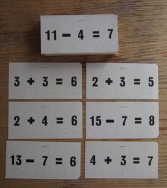 Vintage 1956 New Math Addition Flash Cards McGraw by michiegoodsny