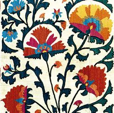 The Vok Collection: Selection 1 auction will take place on 11 April 2015 at Rippon Boswell, Wiesbaden. Textile Design, Textile Art, Indian Folk Art, Weaving Textiles, Bird Drawings, Silk Painting, Tile Patterns, Pattern Wallpaper, Fiber Art