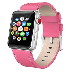 Apple Watch Band 38mm Leather, Swees iWatch Genuine Leather Bands Replacement Strap with Stainless Steel Buckle for Apple Watch Series 3 , Series 2, Series 1, Sports & Edition Women Men, Fuchsia #Apple #Watch #Band #Leather, #Swees #iWatch #Genuine #Leather #Bands #Replacement #Strap #with #Stainless #Steel #Buckle #Series #Sports #Edition #Women #Men, #Fuchsia