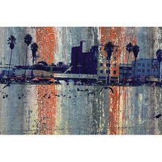 "East Urban Home Venice Beach, Los Angeles by Irena Orlov Graphic Art on Wrapped Canvas Size: 18"" H x 26"" W x 0.75"" D"