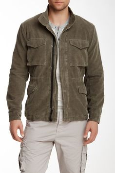 Corduroy Camo Jacket by James Perse in Sergeant Pigment