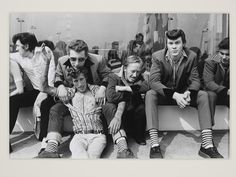 Group of Teddy boys - Southend on Sea by Kevin Lear, England, 1974. l Victoria and Albert Museum