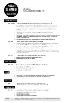 resume example of attractive graphic designnow just go find