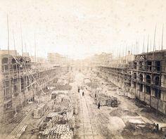 1870 Berlin, Potsdamer Bahnhof, 1 Ansicht des Rohbaus 2, F. A. Schwartz Berlin, Potsdamer Platz, History, Historia