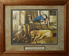 Gift for Dog Lover Pet Loss of Pet with a personalized framed art work. Military, Dog, Pet, Animal, Christian, solid wood frame artwork, bereavement, sympathy, He will quiet you with His love Zephaniah 3:17