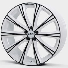 20 ZITO CRS WHITE ANODISED BLACK alloy wheels for 5 studs wheel fitment in 9.5x20 rim size