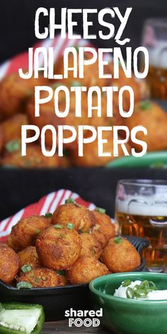 These poppers couldn't be any easier to throw together. Start with some leftover mashed potatoes, toss in your salty cheese and spicy jalapeno and you're pretty much ready to fry these delicious bite sized morsels of spiciness!