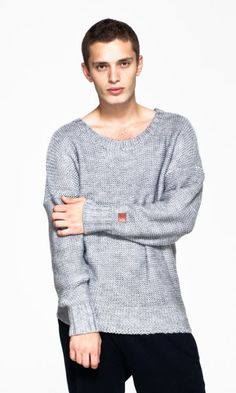 OnePiece® Michael Knitted Sweater Mid Grey