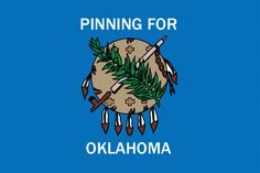 Pinning for Oklahoma badge - for those Oklahoma proud Pinterest users - you know who you are!