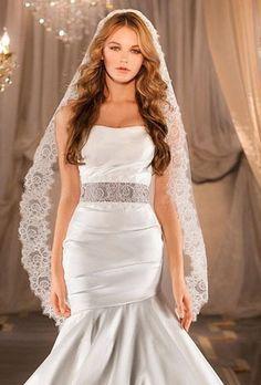 long wedding hair down with veil - Google Search