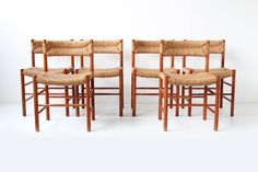 6 DORDOGNE CHAIRS 1950 http://www.galerie44.com/fr/assises/6-dordogne-chairs-1950-detail