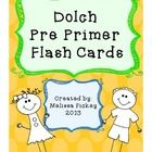 Download this *CUTE* set of Dolch Pre Primer Flash Cards!  Print, laminate, cut out, and enjoy teaching your students or children these important b...
