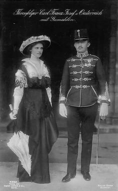 Emperor Karl of Austria & Empress Zita, their family, Part I World War One, First World, Austrian Empire, Holy Roman Empire, 1950s Outfits, Austro Hungarian, Ludwig, Herzog, Historical Photos