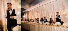 Head Table in Harbor Room- Seattle Wedding Photographer - Jenny GG Seattle Wedding Photographer – Jenny GG #bellharborweddings