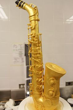 full scale Saxophone cake by Michelle, our crazy cake artist...