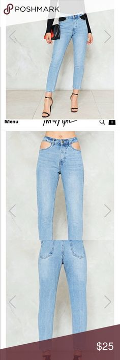 NastyGal Out of Pocket High Waisted Mom jeans Excellent condition, Never Worn, High Waisted straight leg pants Nasty Gal Jeans Straight Leg
