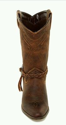 BED STU Areca women's leather pointy toe  brown boots size 9 NWOB