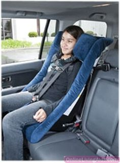 Fabrication Enterprises - 31-1016B - Columbia TheraPedic IPS - 2500 car seat - small adult - blue, 40-130 lbs., 54-66""