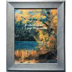 Peinture d'un paysage d'automne Québécois, avec la chaleur de ce dernier, par l'artiste peintre Lyne Thériault. Simplicité, beauté et harmonie au rendez-vous, cadeau idéal.